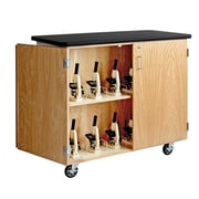 DWI Mobile Microscope Storage Solid Oak and Oak Veneers Cabinet