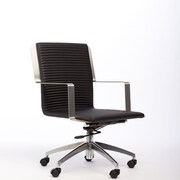 Matrix Trump Adjustable Height Swivel Office Chair; Black