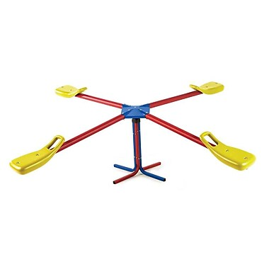 Lifetime Swivel Teeter-Totter; Red/Yellow/Blue
