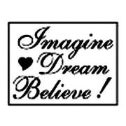 Manuscript Decorative Imagine, Dream, Believe Resin Wax Seal