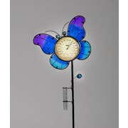 SunTime Outdoor Living Butterfly Temperature - Rain Gauge Garden Stake