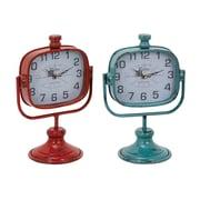 Woodland Imports Durable Metal Clock (Set of 2)
