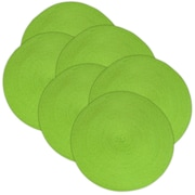 Design Imports Indoor/Outdoor Placemat (Set of 6); Lime