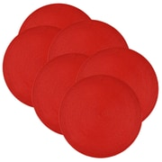 Design Imports Indoor/Outdoor Placemat (Set of 6); Red