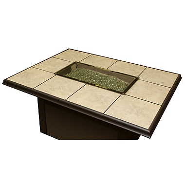 The Outdoor GreatRoom Company Fire Pit Glass Cover; Bronze