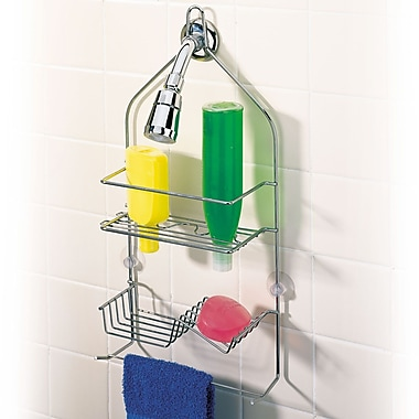 better bath clever shower caddy chrome staples 174 better living products ulti mate shower pole caddy