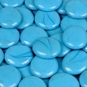 Wholesalers USA 5 lbs of  Glass Gems in Electric Sky Blue