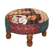 Divine Designs Patchwork Ottoman