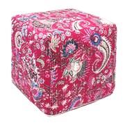 Divine Designs Kantha Pouf Ottoman