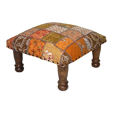 Divine Designs Patchwork and Embroidered Ottoman