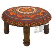 Divine Designs Embroidered Ottoman