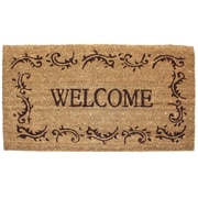 J&M Home Fashions Welcome Filigree Doormat