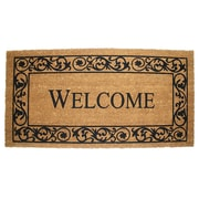 J&M Home Fashions Wrought Iron Welcome Doormat