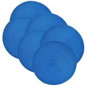 Design Imports Indoor/Outdoor Placemat (Set of 6); Blue