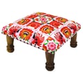 Divine Designs Embroidered Ottoman; Pink