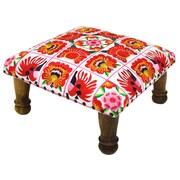 Divine Designs Embroidered Ottoman; Pink