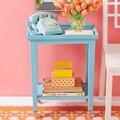 Twos Company Prescott Cote d'Azur Telephone Table; Turquoise