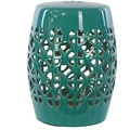 Urban Trends Ceramic Garden Stool; Turquoise
