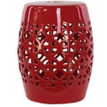 Urban Trends Ceramic Garden Stool; Red