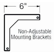 Buhl 6'' Fixed Wall Bracket for WS Screens