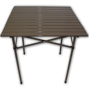 String Light Co Lightweight Aluminum Picnic Table; Brown