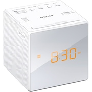 SONY-PERSONAL & PORTABLE Radio ICFC1WHITE Alarm Clock, White