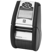 Zebra QH2-AUCA0M00-00 QLn220 Monochrome Direct Thermal Receipt Printer, 4 ips Display, USB, Gray/White