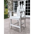 Shine Company Inc. Westport Counter Adirondack Chair; White