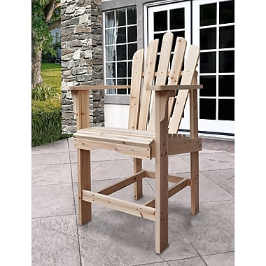 Shine Company Inc. Westport Counter Adirondack Chair; Natural