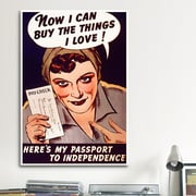 iCanvas Can't Buy Me Love Vintage Poster Canvas Print Wall Art; 40'' H x 26'' W x 0.75'' D