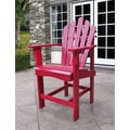 Shine Company Inc. Westport Counter Adirondack Chair; Chili Pepper