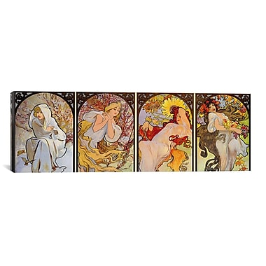iCanvas 'Les Saisons' by Alphonse Mucha Graphic Art on Canvas; 20'' H x 60'' W x 1.5'' D