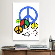iCanvas Political Peace Sign Symbol Graphic Art on Canvas; 12'' H x 8'' W x 0.75'' D