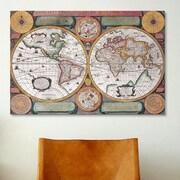 iCanvas Antique Map Terre Universelle, 1594 Graphic Art on Canvas; 12'' H x 18'' W x 1.5'' D