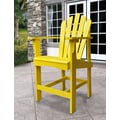 Shine Company Inc. Westport Counter Adirondack Chair; Lemon Yellow