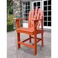 Shine Company Inc. Westport Counter Adirondack Chair; Rust
