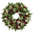 Urban Florals Holiday Fields Wreath; 22'' H x 22'' W x 5'' D