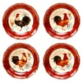 Certified International Tuscan Rooster Soup / Pasta Bowl (Set of 4)