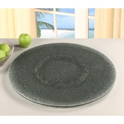 Chintaly Sandwich Glass Lazy Susan; Gray Tinted