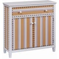 Stein World Cabana Stripe 2 Door and 1 Drawer Cabinet