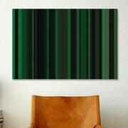 iCanvas Striped Art Dark Matrix Green Graphic Art on Canvas; 26'' H x 40'' W x 0.75'' D