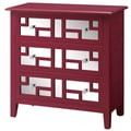 Crestview Roxy Bright 3 Drawer Mirrored Chest