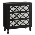 Crestview Newcastle 3 Drawer Chest; Black