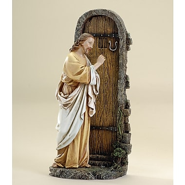 Joseph's Studio Jesus Knocking at Door Figurine