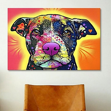 iCanvas ''Love a Bull'' by Dean Russo Graphic Art on Wrapped Canvas; 8'' H x 12'' W x 0.75'' D