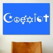 iCanvas Political Coexist Symbols Graphic Art on Canvas; 18'' H x 26'' W x 1.5'' D