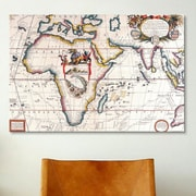 iCanvas Antique Asia and Africa Map Graphic Art on Canvas; 18'' H x 26'' W x 1.5'' D