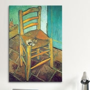 iCanvas 'Chair with Pipe' by Vincent van Gogh Painting Print on Canvas; 60'' H x 40'' W x 1.5'' D