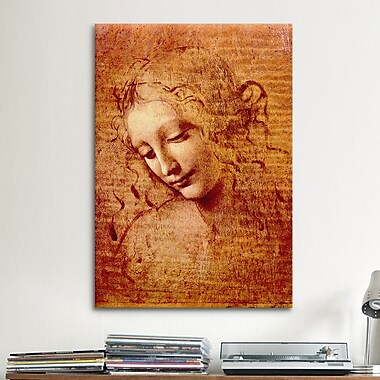 iCanvas ''Female Head'' by Leonardo da Vinci Painting Print on Canvas; 60'' H x 40'' W x 1.5'' D