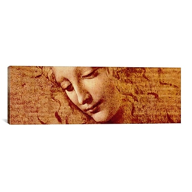 iCanvas 'Female Head' by Leonardo da Vinci Painting Print on Canvas; 16'' H x 48'' W x 0.75'' D
